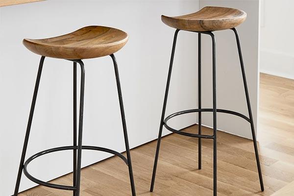 صندلی کانتر چوبی